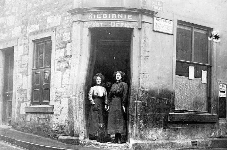 Old Photograph Post Office Kilbirnie Scotland