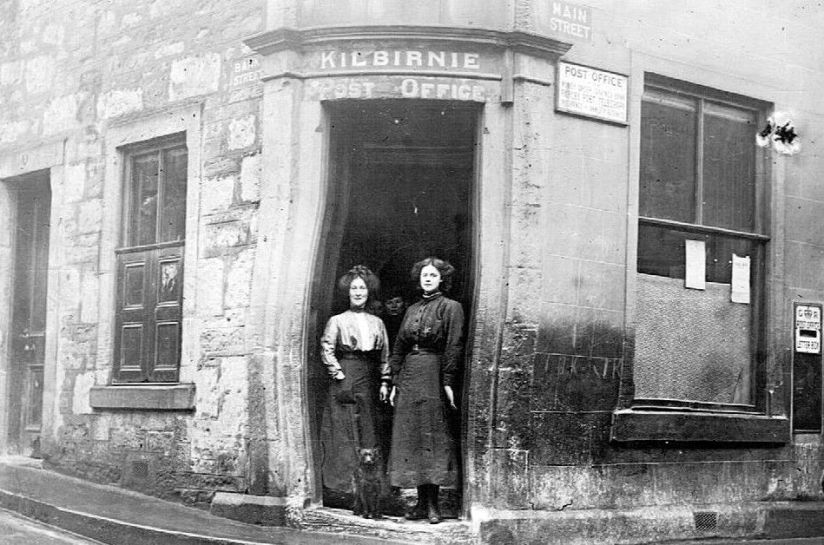 Old Photograph Post Office Kilbirnie Scotland